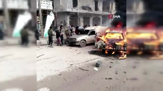 Afrin'de bomba yüklü araçla saldırı 2 ölü, 23 yaralı