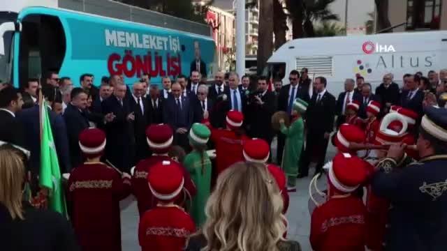 Minik mehteranlardan Cumhurbaşkanı Erdoğan'a sürpriz