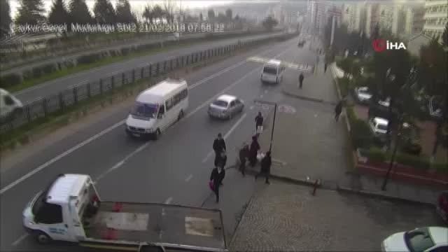 Rize'de trafik kazaları mobeseye böyle yansıdı