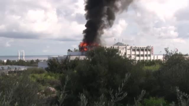 Üniversitede çıkan yangın korkuttu