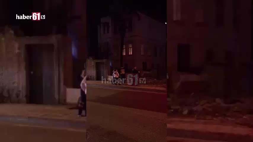 Trabzon'da gece yarısı yangın