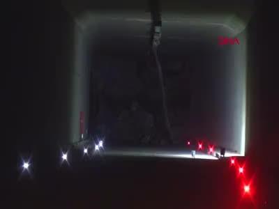 Artvinde tünel çöktü