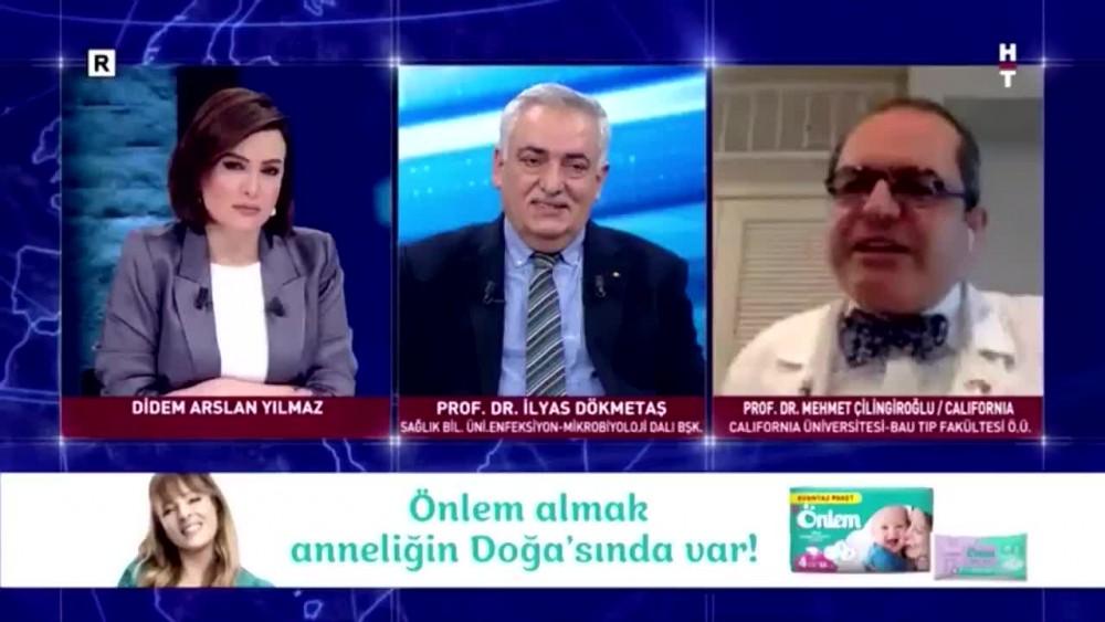 Prf.Dr. Mehmet çilingiroğlu canlı yayını terketti