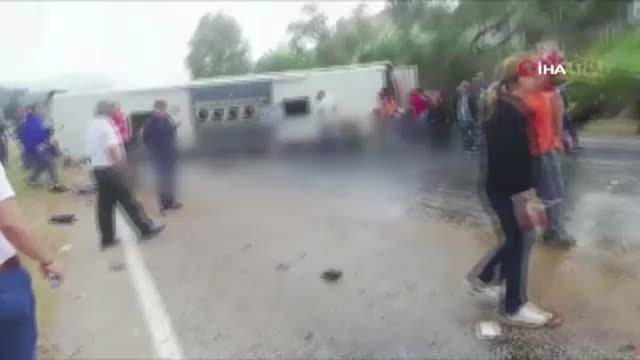 Feci kaza: 2 ölü, 12 yaralı