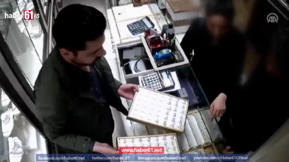 Yüzük hırsızları yakalandı