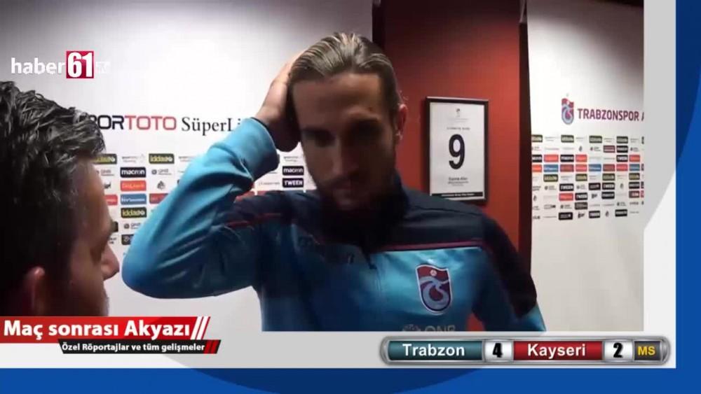 Trabzonsporlu Yusuf Yazıcı'dan transfer sorusuna yanıt!