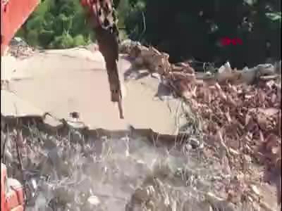 Fırtına vadisinde yıkımlar başladı