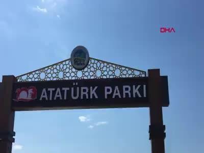Rize'de parkta isim tartışması
