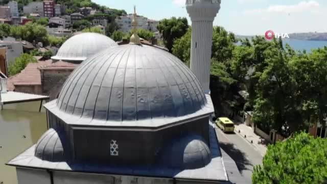 Üç inancın aynı sokakta olduğu Kuzguncuk havadan görüntülendi