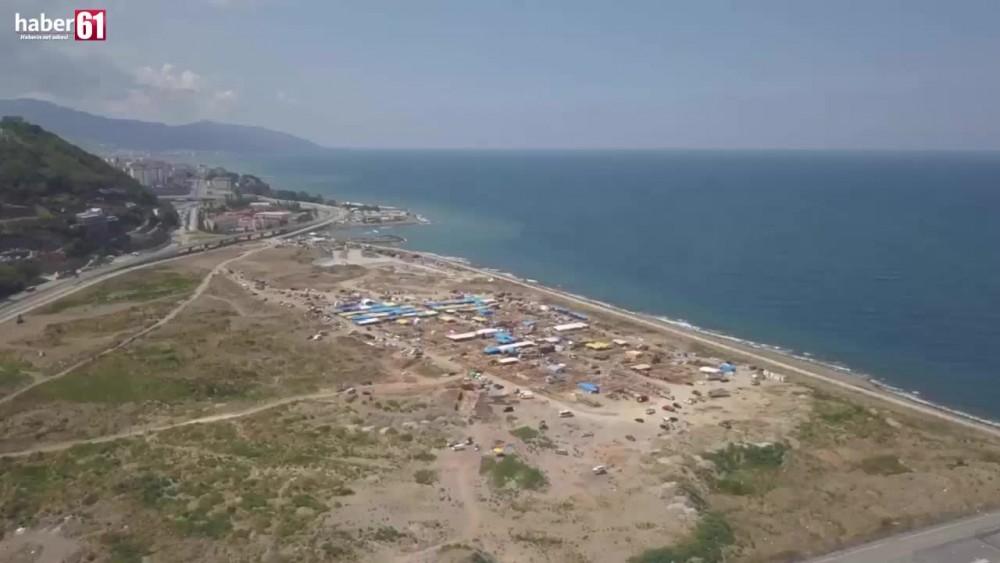 Haber61 bayramın ilk gününde Trabzon kurban pazarını havadan görüntüledi