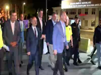 İçişleri Bakanı Süleyman Soylu  trafik denetiminde