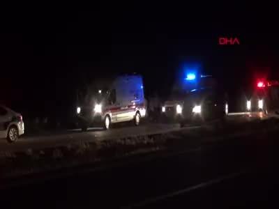 Yozgat'ta zincirleme trafik kazası 2 ölü, 5 yaralı