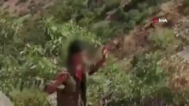 Mehmetçik'ten teslim olan teröriste şefkat eli