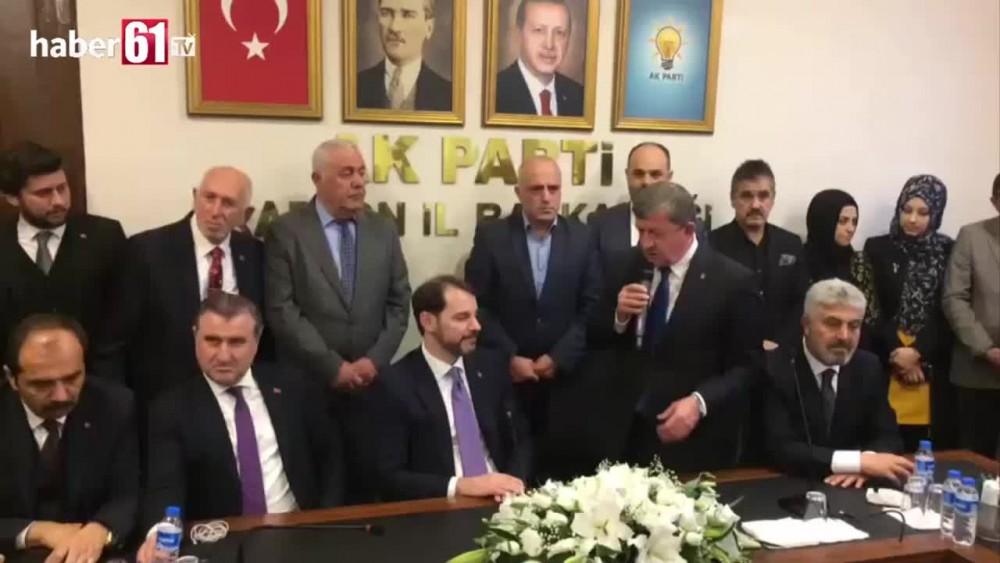 Berat Albayrak AK Parti Trabzon İl Başkanlığında