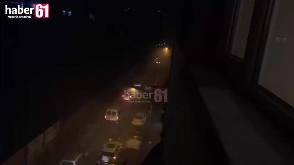 Trabzon'da dolmuş yandı