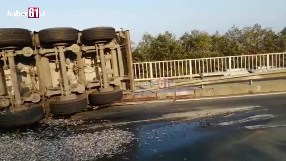Trabzon'da tır kazası