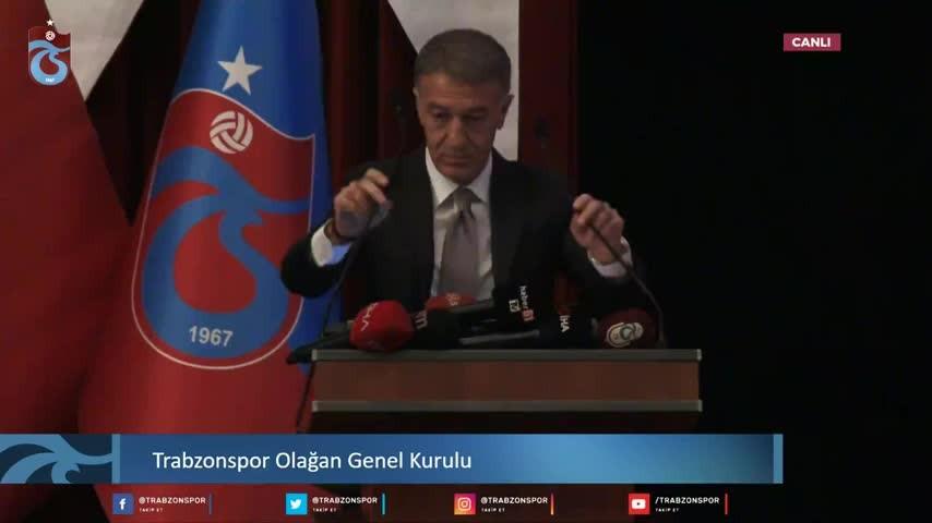 Ahmet Ağaoğlu genel kurulda konuştu