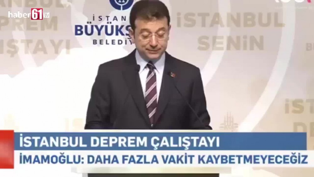 Imamoğlu : bu proje cinayet projesi